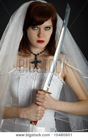 Young Bride Armed Sword
