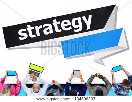 Strategy Planning Solution Tactics Vision Direction Concept