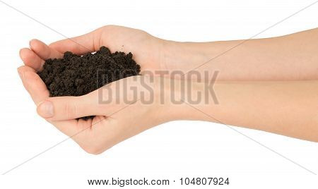 Ground in humans arms