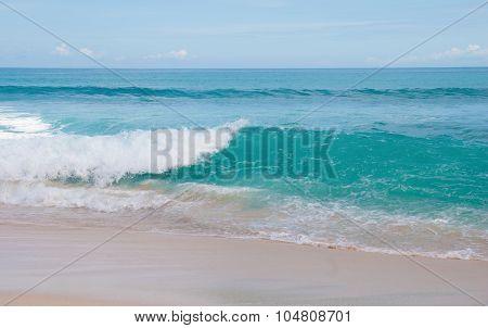 Waves on the beach Balangan, Bali, Indonesia.