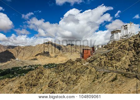 Leh Royal Palace And Buddhist Temple-ladakh,india