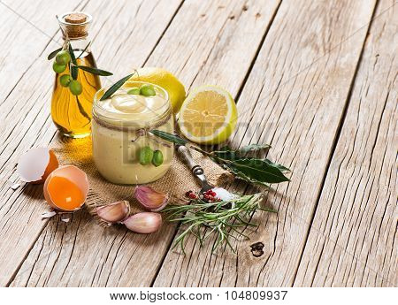 Mayonnaise Sauce And Food Ingredients
