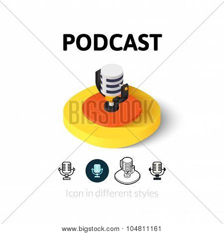 Podcast icon in different style