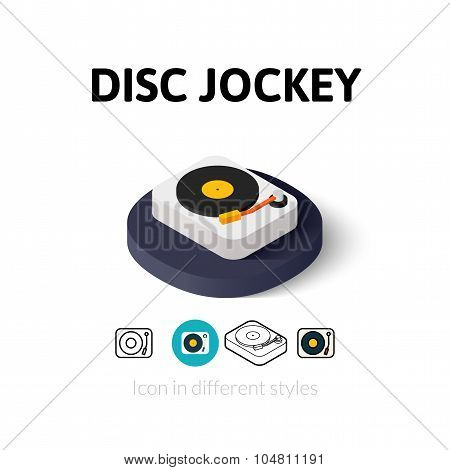 Disc Jockey icon in different style