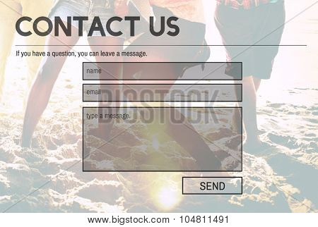 Contact Us Service Support Information Feedback Concept