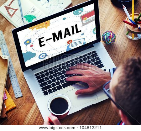 Email Correspondence Online Communication Concept