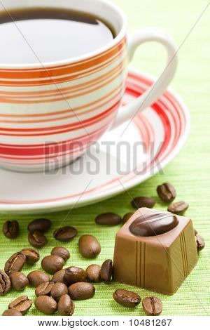 Chocolate Praline And Coffee Cup