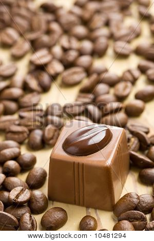 Chocolate Praline And Coffee Beans