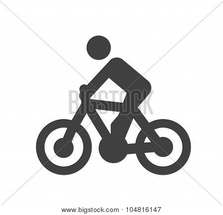 Bicycle Icon Or Silhouette Cycling