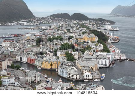 Alesund , The Art Deco City Of Norway Due To It's Many Art Deco Buildings