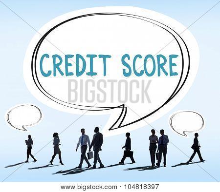 Credit Score Financial payment Rating Budget Money Concept