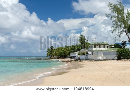 House On The Ocean Beach Of Barbados
