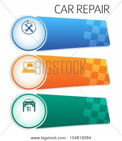Service-car-repair-button-horizontal-banner-isolated
