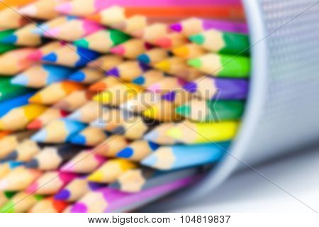 blurred  colorful pencils