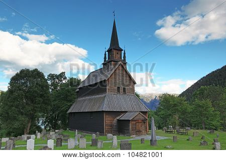 Old Wood Kaupanger Stave Church, Norway
