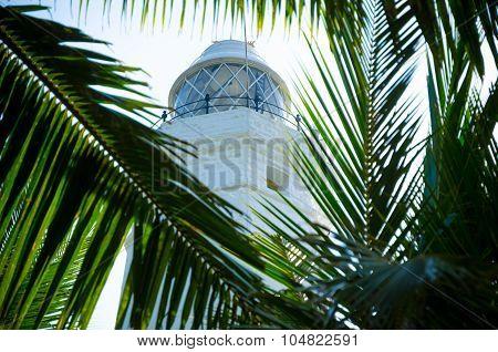 White lighthouse Dondra Head