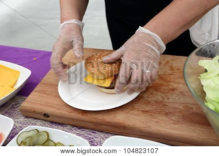 Cooking Of Burgers