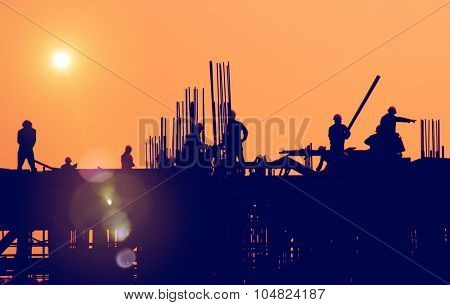 Construction Worker Engineering Built Building Concept