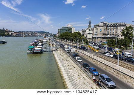 The Danube Promenade In Budapest