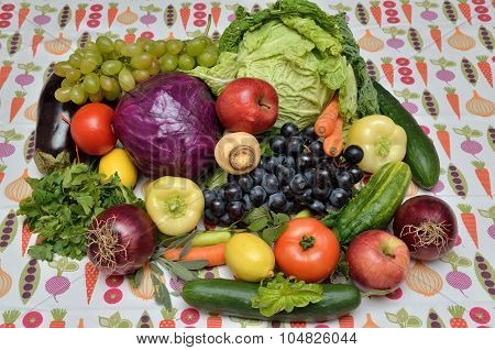 Fresh Healthy Vegetables And Fruits