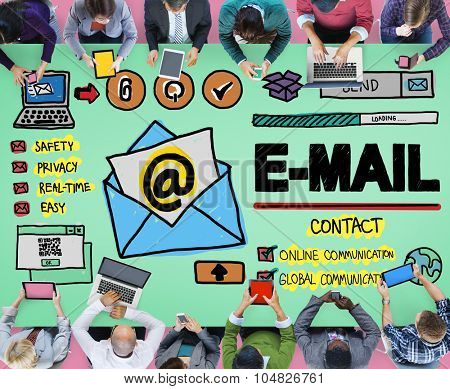 E-mail Online Messaging Correspondance Concept