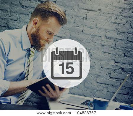 Fifteenth Appiontment Memo Schedule Calendar Plan Concept