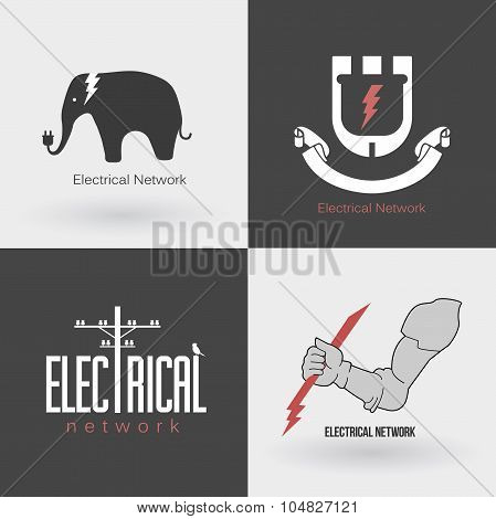 Set Electric logo and emblem.