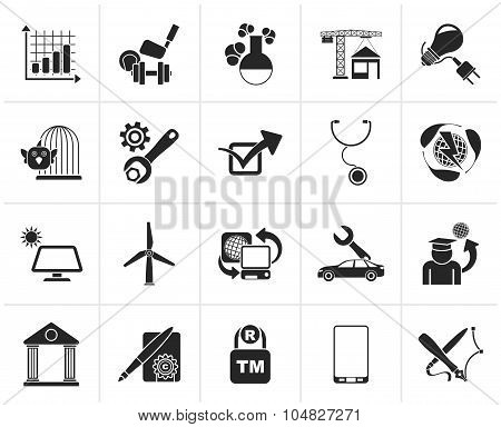 Black Internet and Website Portal icons