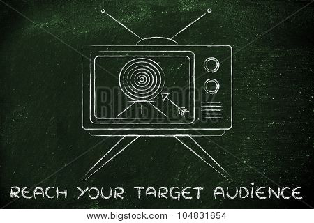 Reach Your Target Audience, Concept Of Tv Ads