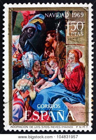 Postage Stamp Spain 1969 Adoration Of The Magi, Christmas
