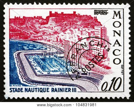 Postage Stamp Monaco 1964 Rainier Iii Aquatic Stadium
