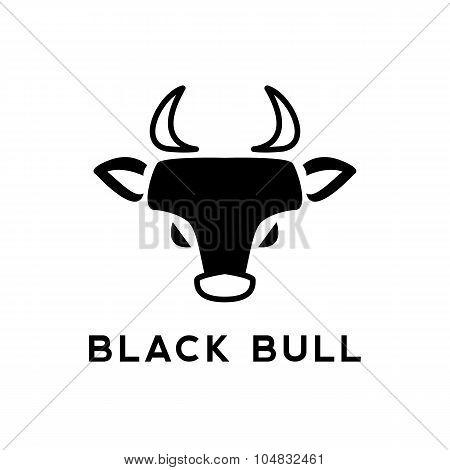 Vector minimalistic flat bull head logo