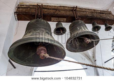 The bells at the Assumption Cathedrals' belfry of Rostov Kremlin