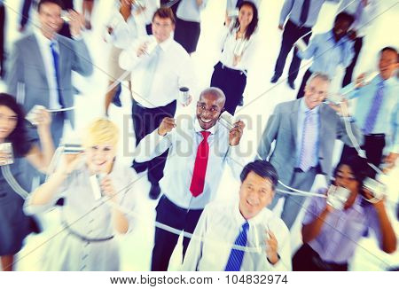 Large Group of Business People Communication Concept