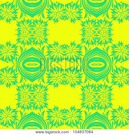 Damask Seamless Pattern In Retro Style