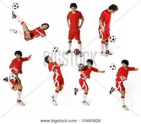Junge mit Fußball, Fußballspieler