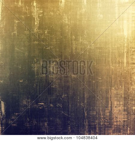 Weathered and distressed grunge background with different color patterns: yellow (beige); brown; gray; purple (violet)
