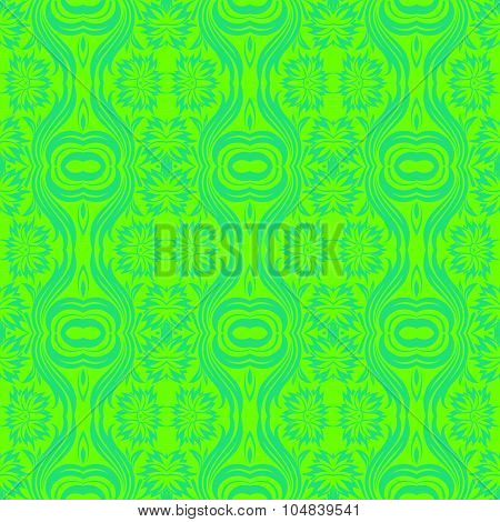Floral Seamless Vector Pattern Orient Abstract Background