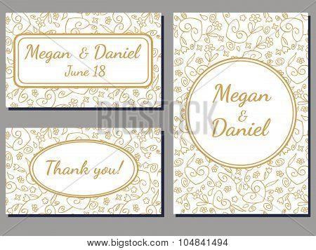 Wedding Invitation Swirl Cards