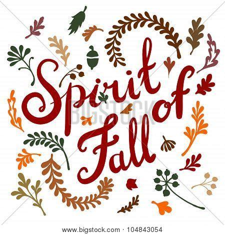 Round frame of autumn leaves. Autumn, leaves, wreath.  illustration
