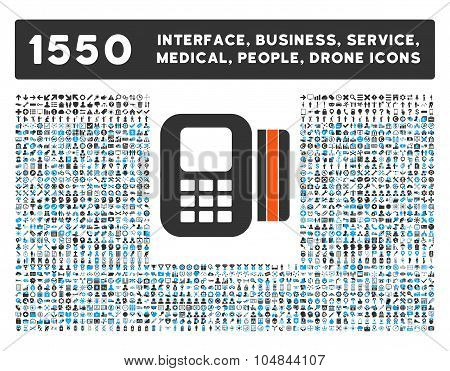 Card Processor Icon and More Interface, Business, Medical, People, Awards Vector Symbols