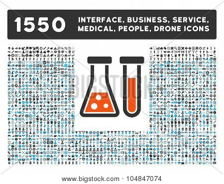 Chemistry Icon and More Interface, Business, Medical, People, Awards Vector Symbols