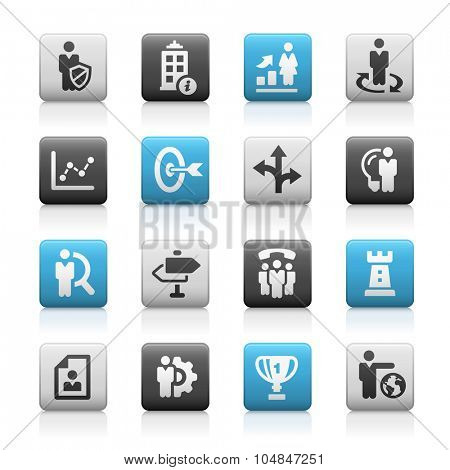 Business Strategies Icons // Matte Series