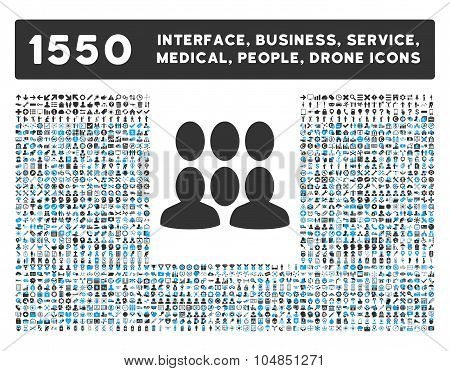 Crowd Icon and More Interface, Business, Medical, People, Awards Vector Symbols