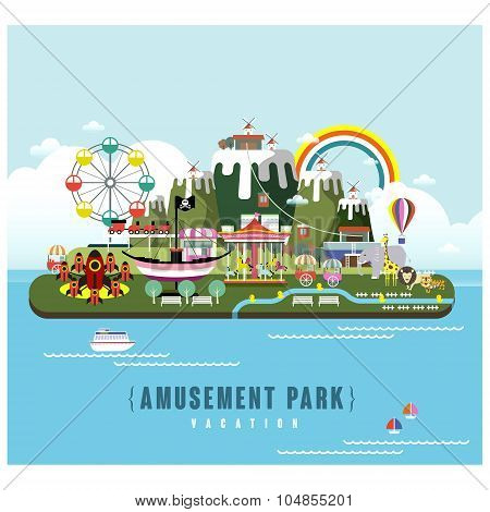 Amusement Park Scenery