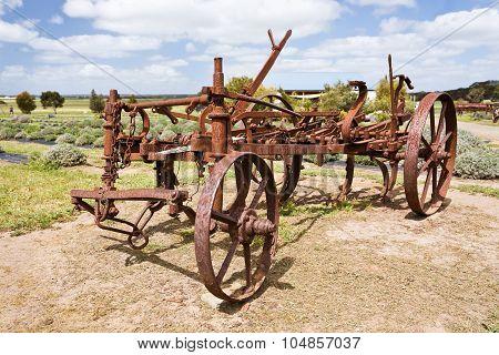 Antique rusty plough