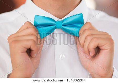 Bow-tie On A Suit