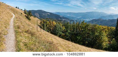 Amazing Mountain Scenery In Early Autumn
