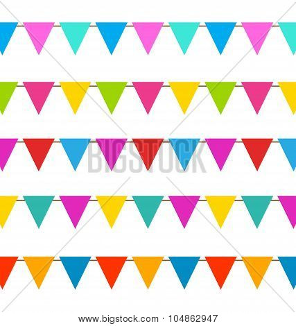 Set Hanging Bunting Pennants, Colorful Decoration
