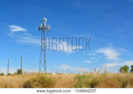Cell Tower Disguised As A Farm Windmill